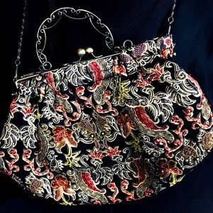 Braciano Embellished Beaded Sequin Vtg Style Purse